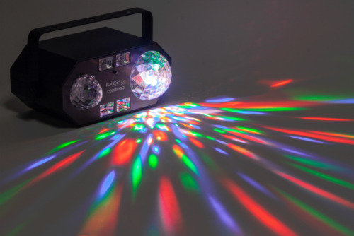 IBIZA COMBI-FX2 4in1 LED Lichteffekt FERNBEDIENUNG PARTY DISCO CLUB DEKO MUSIK