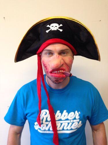 Adult Pirate Hat with Skull Costume Blackbeard Fancy Dress Accessory Kids Child