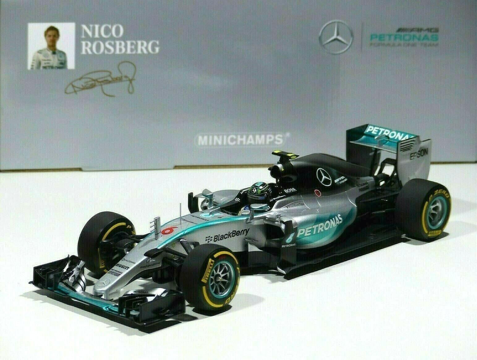 ordina ora con grande sconto e consegna gratuita Nico Rosberg Rosberg Rosberg  6 MERCEDES AMG Petronas f1 GP 2015 USA ibrido w06 1 18 Minichamps  marche online vendita a basso costo