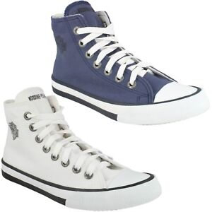 LADIES HARLEY DAVIDSON FLORA HI TOP CANVAS LACE UP SHOES WOMENS CASUAL TRAINERS