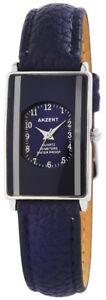 Akzent-Damenuhr-Blau-Silber-Analog-Kunst-Leder-Quarz-Armbanduhr-X-SS7323000016