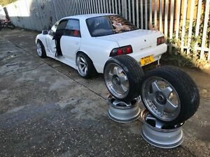 nissan skyline r32 gts drift car 4 door white gtr rb20det 200sx