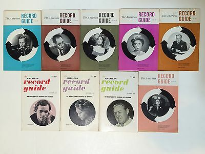 American Record Guide - 9 ISSUE LOT 1960 - Classical Music Reviews - John Cage