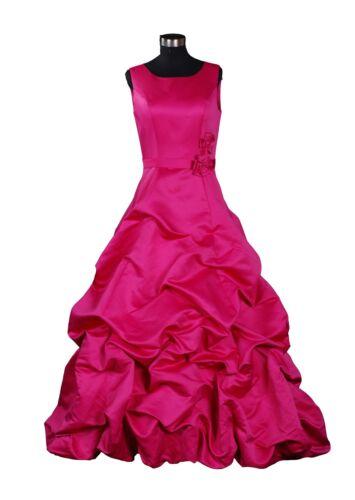 New Satin Wedding Bridesmaid Dress Gown UK Size4-14,EU34-44,US2-12 UK STOCK