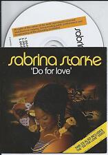 SABRINA STARKE - Do for love CD SINGLE 2TR Enhanced 2008 CARDSLEEVE