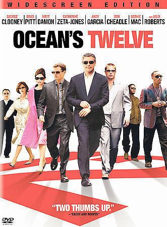 Oceans Twelve DVD, 2005, Widescreen  - $0.99