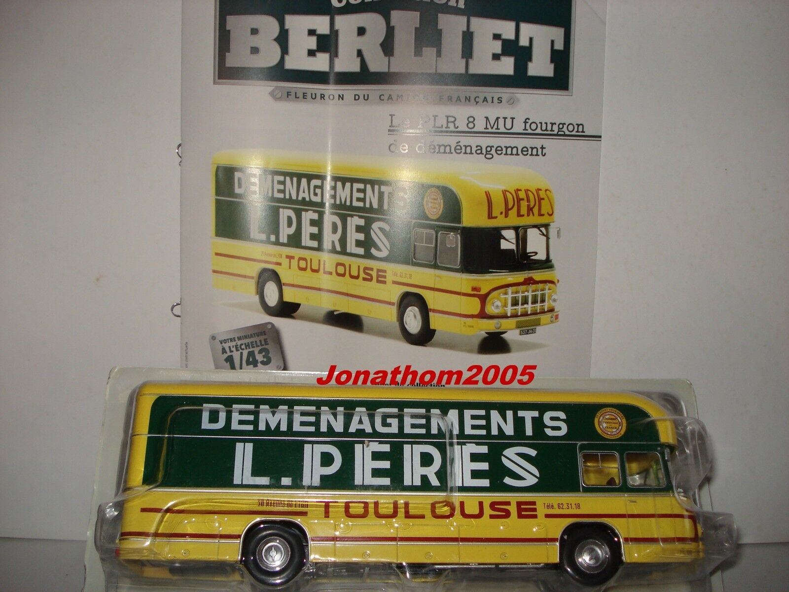COLLECTION BERLIET - PLR 8 MU VAN   WAGON REMOVALS FATHERS TOULOUSE to the 1 43°
