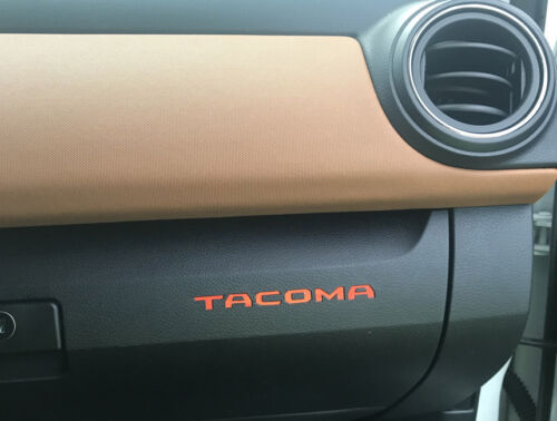 BDTrimsOrange Plastic Letters for Toyota Tacoma 2016-2019 Glove Box Inserts