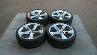 Bmw 3 Series Chromed 5 Solid Spoke Style 230 19 Wheels/tires/tpms & Cap Set