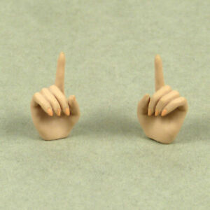 Set of Suntan Fighting Grip /& Gesturing Hands TBLeague Phicen 1//6 Female Figure