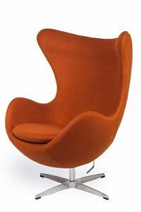Egg Sessel In Karmell Carmel Egg Chair By Arne Jacobsen Ebay