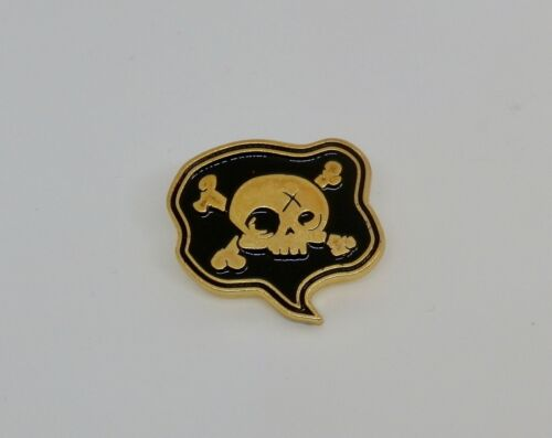 Gold and Black Dark Gothic Enamel Pin Badges Brooch