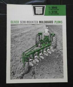 "1961 ""OLIVER No. 5540 5760 4-5-6-7-8 BOTTOM SEMI-MOUNT MOLDBOARD PLOWS"" BROCHURE"