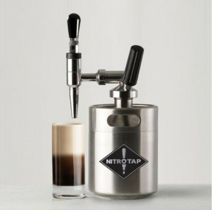 NITRO TAP Nitro Coffee Maker Cold brew Coffee Kegerator Simple Compact Kit DIY H