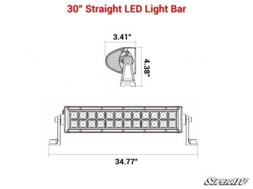 SuperATV 30 Inch LED Offroad Combination Spot Flood Straight Light Bar
