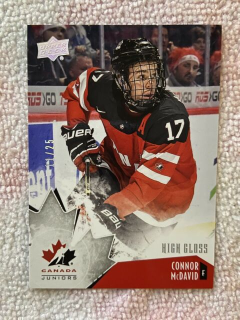 Connor Mcdavid Team Canada Juniors High Gloss /25