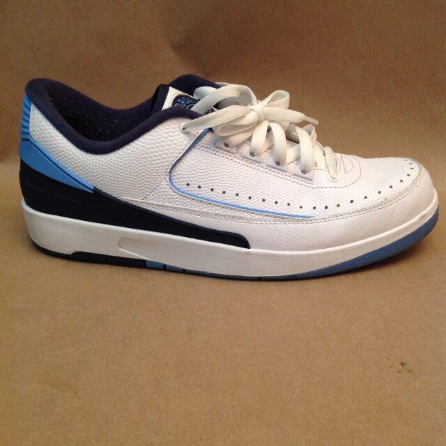 d8d3bb6ba49e9 Nike Men's Air Jordan 2 Retro Low Basketball SNEAKERS White Blue Size 9.5  NWOB