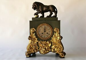 parigina impero leone bronzo e lamiera dorata