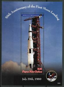 Papau-New-Guinea-PNG-Stamps-2019-MNH-Apollo-11-Moon-Landing-Space-1v-S-S