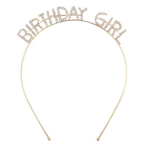 Gold Metal It/'s My Birthday Headband Tiaras Girl Birthday Party Hair Accessory A