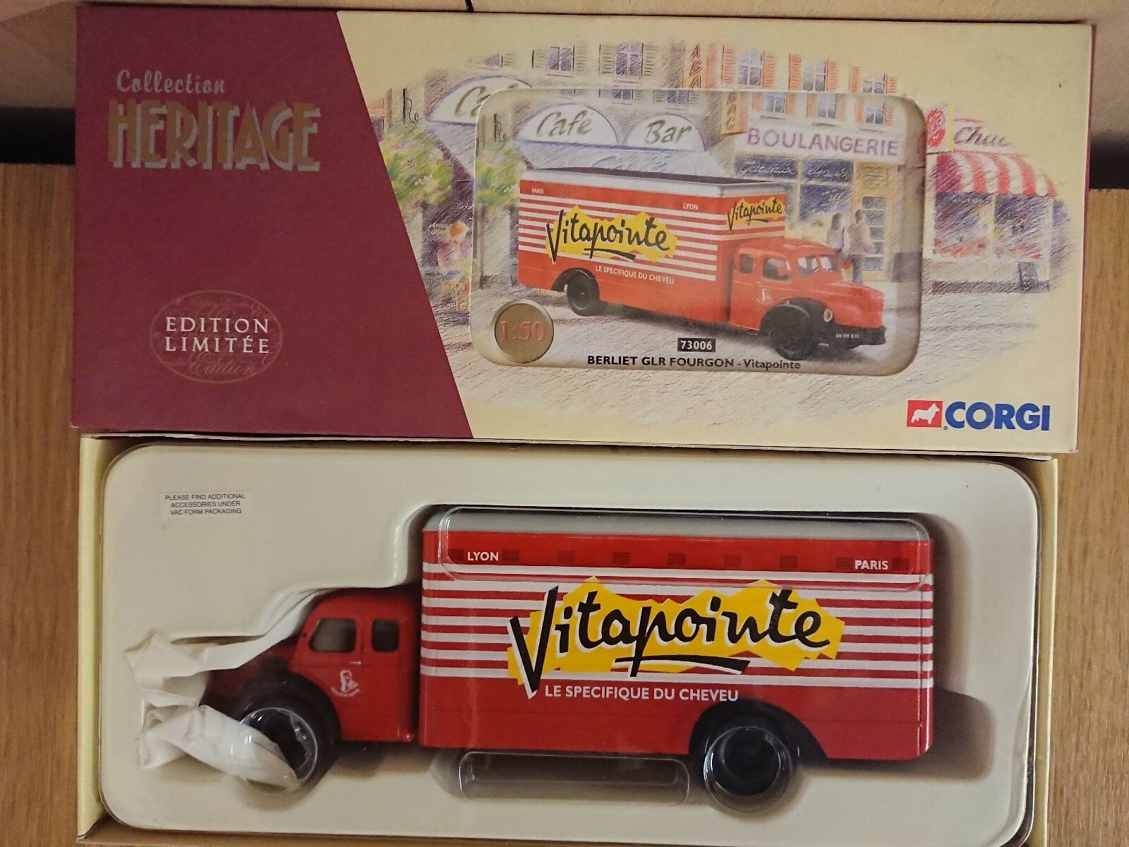 Corgi 73006 Berliet GLR Fourgon VITAPOINTE Ltd Edition No. 0307 of ONLY 1048