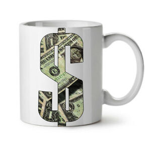 Dollar Bill Symbol NEW White Tea Coffee Mug 11 oz   Wellcoda