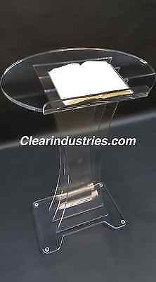 Acrylic/Podium/Lectern/Pulpit/Plexiglass/Lucite/clear