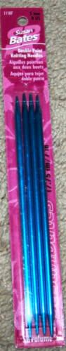 4 mm Susan Bates Silvalume 4 pc Double Point Needles sz 6