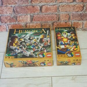 Lego-Heroica-3860-assiege-Base-Set-amp-3857-Draida-Expansion-Set-RARE-RETIRED