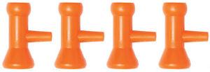 "Pack of (4) 1/4"" Side Flow Nozzles Loc-Line® USA Original Modular System #41478"