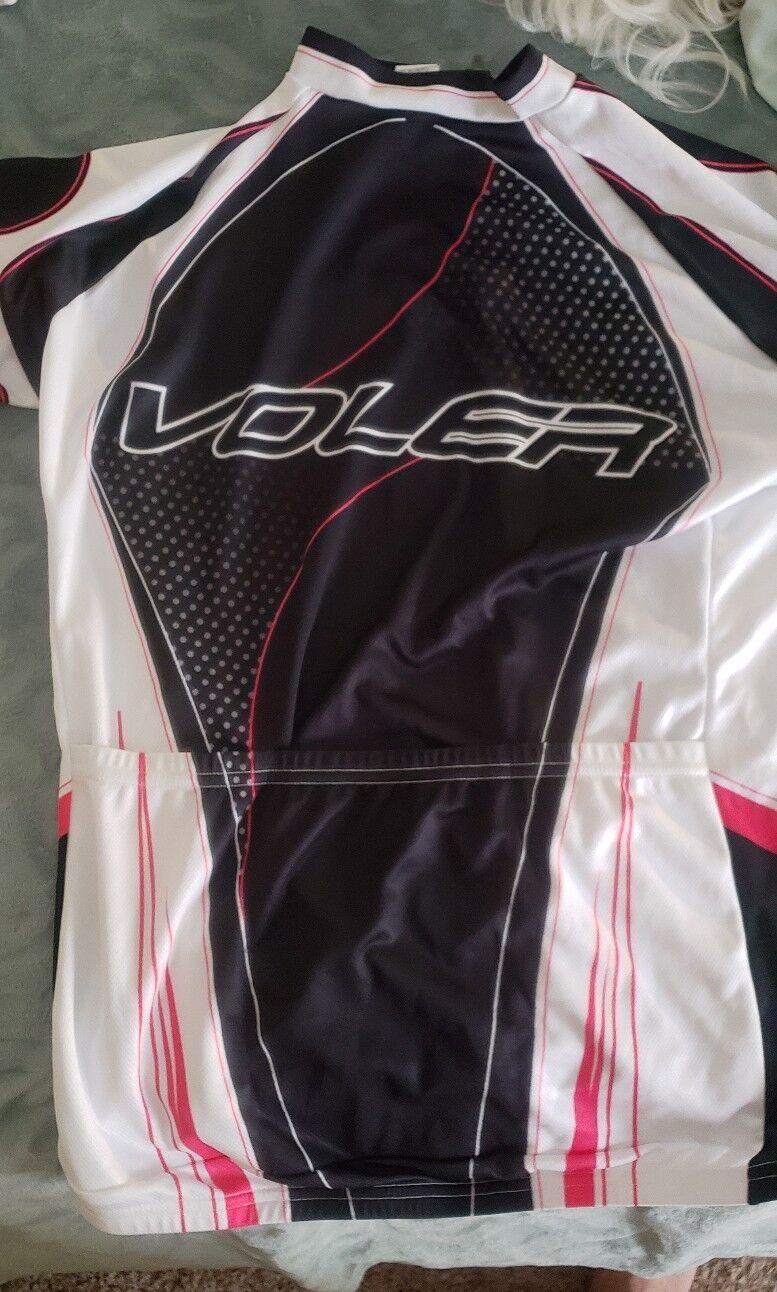Voler Cycling Jersey Race SS Raglan Large White Blk & Pink
