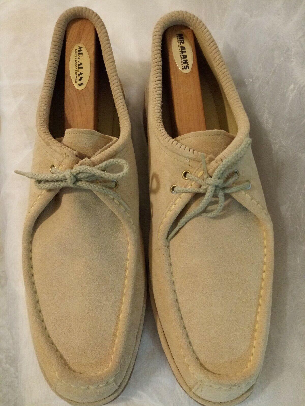 Johnston y Murphy grises, hilo de gamuza, zapatos de recreo.Deep 13.