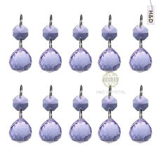 25 Purple Chandelier Cut Hanging Crystal Ball Prism Feng Shui Drops Pendant 20mm