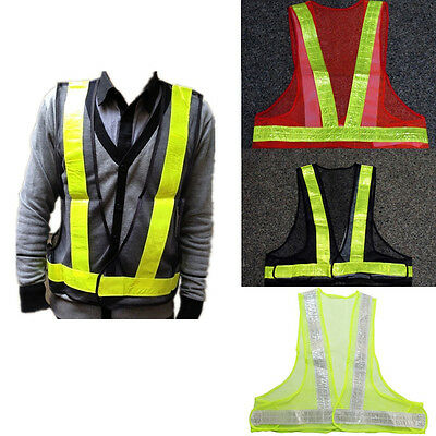 HI VIS Visibility High Viz Safety Waistcoat Vest Gear Traffic Workwear Clothes