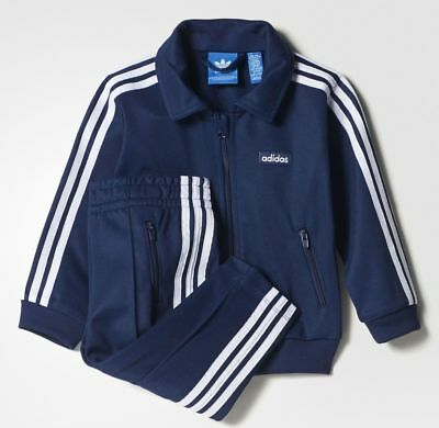 Adidas Säugling Klassisch Beckenbauer Trainingsanzug Baby Kinder Set Bq0651
