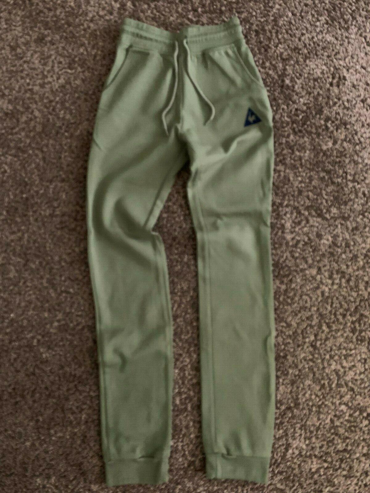 Men's Le Coq Sportif Sweatpants Loungewear XS XSmall Forest green