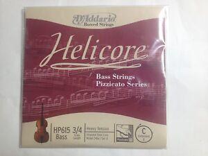 Industrieux D'addario Hp615 Helicore Pizzicato Bass Single C String 3/4 Scale Heavy Dix.-afficher Le Titre D'origine Une Large SéLection De Couleurs Et De Dessins