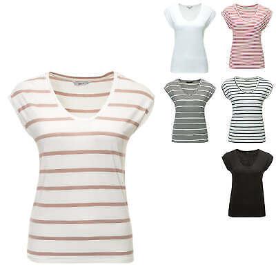 Only Damen T-shirt Kurzarmshirt Shirt Basic Top Damenshirt Stretch Color Mix Neu