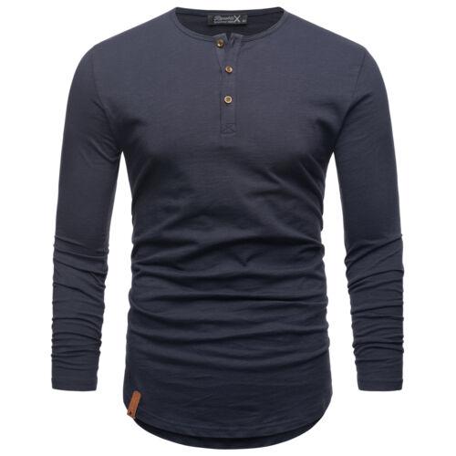 Oversize Herren Vintage T-Shirt Verwaschen V-Neck Basic V-Ausschnitt Shirt R16