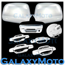05-12 Chevy Colorado+Canyon Chrome Mirror+4 Door+NO KH+Tailgate Handle+GAS Cover