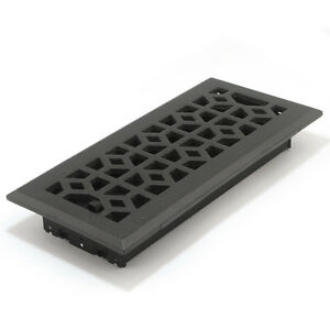 4 x 10 cast iron black metal floor diffuser register vent for 10 x 14 floor register