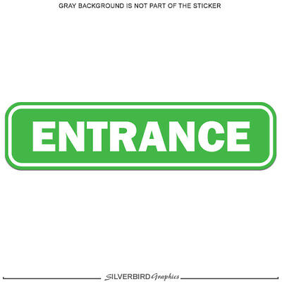 Graphics and More Emergency Exit Sign Window Business Stickers Set of 2 Alert Warning