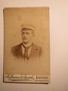 Objectif Leipzig-le Dr Le. Otto Jacob Comme étudiant - 1877-1914 - Cdv/studentika-afficher Le Titre D'origine