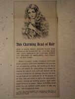 CUTICURA SOAP SHAMPOO MISS JONES GIRL.dELPHI IND antique old 1902 victorian era