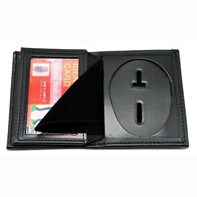 Perfect Fit Police Badge Wallet Blackinton Oval Style Choice RFID Brown Black
