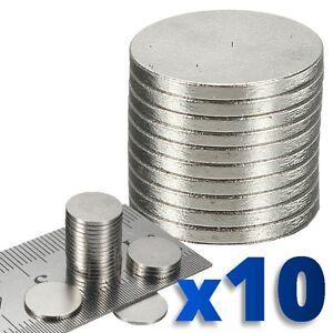 10 X Rare Aimant Disque Rond Aimants Terre Néodyme Craft 10.1 Mm N. 50 Grade-afficher Le Titre D'origine MatéRiaux De Qualité SupéRieure