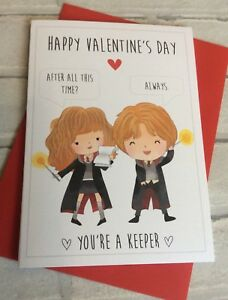 Image Is Loading Personalised Harry Potter Valentines Day Card Hermione Amp