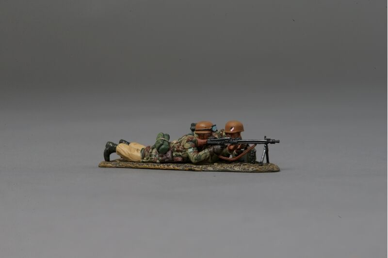 THOMAS GUNN FJ030C - German MG42 Team (Desert) WW2 Painted Diecast Metal