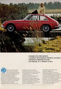 1966-MGB-GT-PRINT-AD-British-Motor-Corporation-Great-Vintage-Photo-Ad-Frame-It