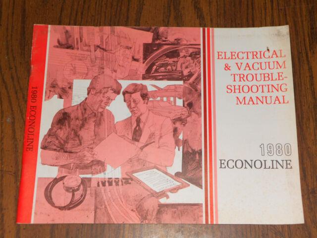 1980 Ford Econoline Van Wiring And Vacuum Diagram Shop Manual    Original